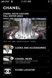 Chanel iPhone app screenshot